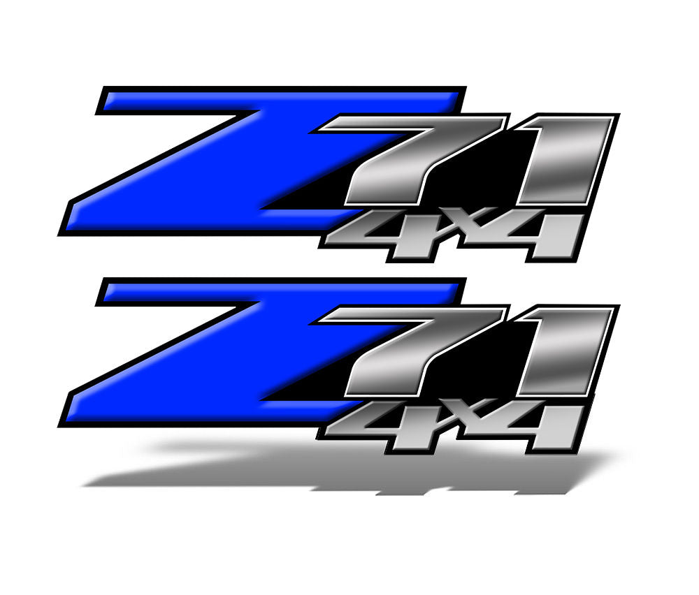 Dark Blue Z71 4x4 Decals
