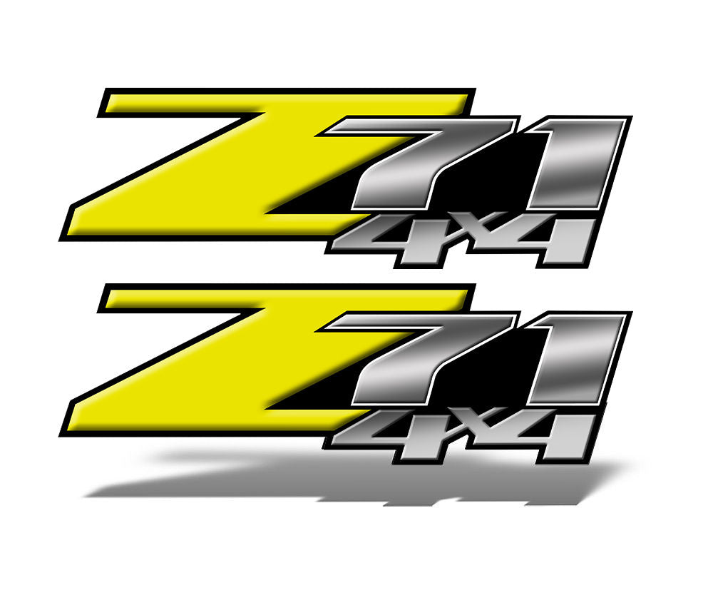 Yellow Z71 4x4 Decals