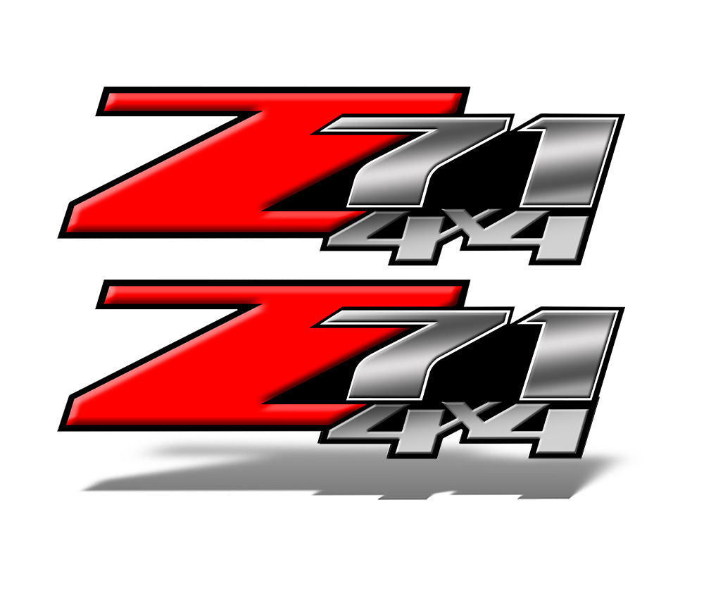 Red Z71 4x4 Decal