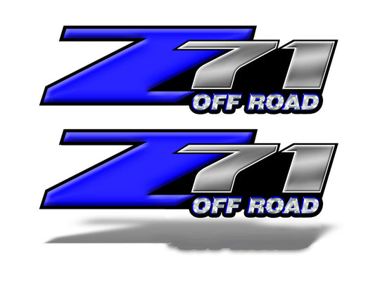 Z71 OFF ROAD Decals Dark Blue