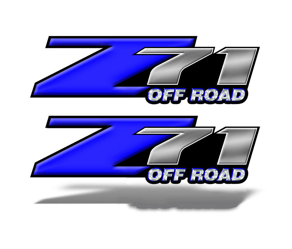 Z71 OFF ROAD Decals Blue