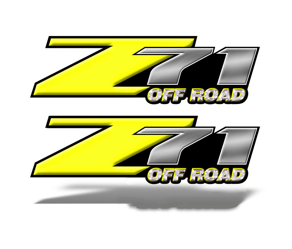 Z71 OFF ROAD Decals Yellow