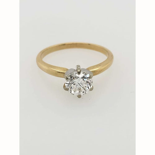 1.00Ct Diamond Solitaire 14Kt Yellow Gold Size 7.25 - Diamond Ring Loan Usa