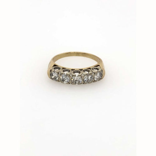 1.00CTW Diamond Band 14kt Yellow Gold Size 7.5 - Diamond Ring Loan USA