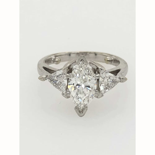 1.1Ct Marquis Diamond Engagement Ring 14Kt White Gold Size 4.5 - Diamond Ring Loan Usa