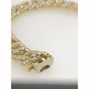 11.50CTW Diamond Bracelet 18KT Yellow Gold 7.25 - Jewelry Loan USA