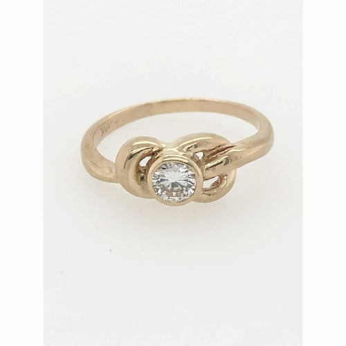 .20Ctw Diamond Design Ring 10Kt Yellow Gold Size 6 - Diamond Ring Loan Usa