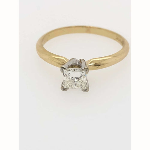 .45Ct Princess Cut Diamond Solitaire 14Kt Yellow Gold Ring Size 7.25 - Diamond Ring Diamond Gold Jewelry Loan Usa