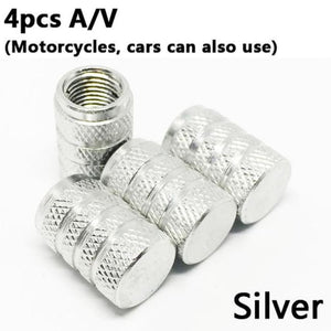4Pcs Bike Wheel Tire Covered Car Motorcycle Truck Universal Tube Tyre Bicycle Av Sv American Air Valve Cap Dustproof 10 Colors - American