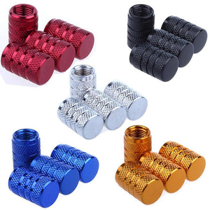 4Pcs Bike Wheel Tire Covered Car Motorcycle Truck Universal Tube Tyre Bicycle Av Sv American Air Valve Cap Dustproof 10 Colors - Bike