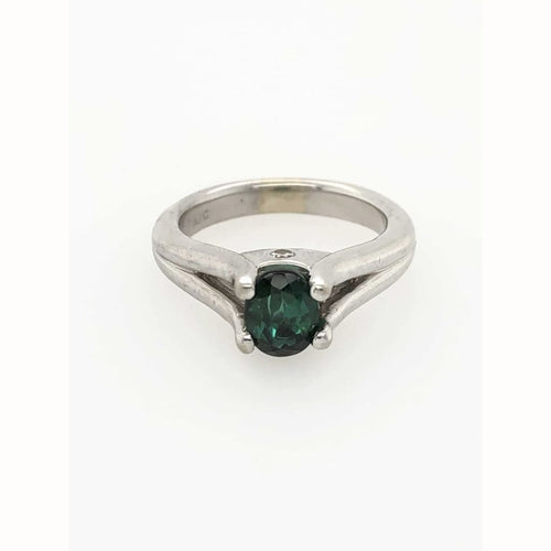 .50Ct Oval Emerald Ring 14Kt White Gold Size 6.25 - Gemstone Rings Loan Usa