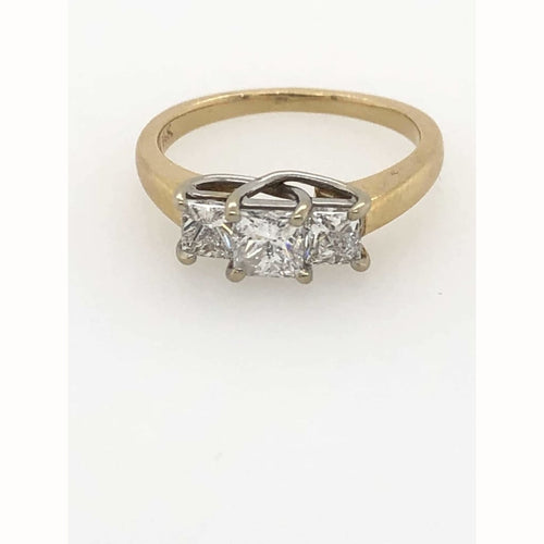.75Ctw Princess Cut Diamond Ring 14Kt Yellow Gold Size 5.75 - Diamond Ring Loan Usa