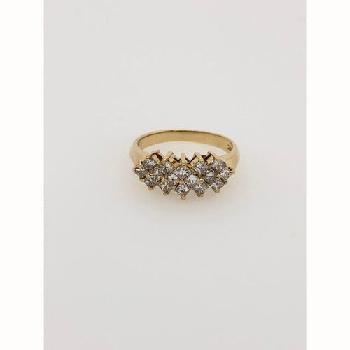.80CTW Diamond Pyramid Ring 14KT Yellow Gold Size 7 - Diamond Ring Loan USA