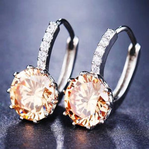 Classic Fashion Studs - Champagne - Classic Fashion Jewelry Stones Studs Loan Usa