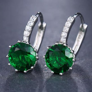 Classic Fashion Studs - Green - Classic Fashion Jewelry Stones Studs Loan Usa