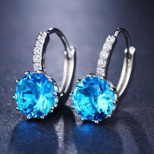 Classic Fashion Studs - Lake Blue - Classic Fashion Jewelry Stones Studs Loan Usa