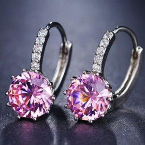 Classic Fashion Studs - Pink - Classic Fashion Jewelry Stones Studs Loan Usa