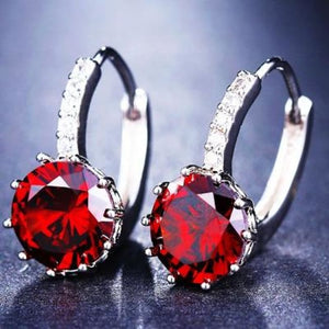 Classic Fashion Studs - Pomegranate Red - Classic Fashion Jewelry Stones Studs Loan Usa