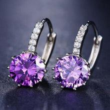 Load image into Gallery viewer, Classic Fashion Studs - Purple - Classic Fashion Jewelry Stones Studs Loan Usa