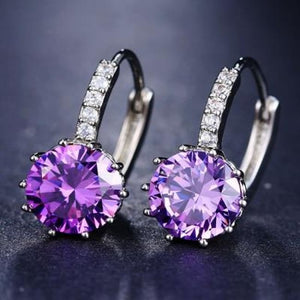 Classic Fashion Studs - Purple - Classic Fashion Jewelry Stones Studs Loan Usa