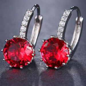 Classic Fashion Studs - Rose Red - Classic Fashion Jewelry Stones Studs Loan Usa