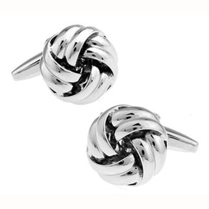 Free Shipping Black Cufflinks For Men Fashion Knot Design Top Quality Copper Hotsale Cufflinks Whoelsale&retail - Knot4 - Black Tie