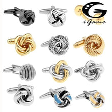 Load image into Gallery viewer, Free Shipping Black Cufflinks For Men Fashion Knot Design Top Quality Copper Hotsale Cufflinks Whoelsale&retail - Black Tie Cufflinks Custom