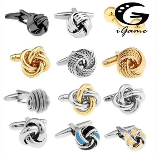 Free Shipping Black Cufflinks For Men Fashion Knot Design Top Quality Copper Hotsale Cufflinks Whoelsale&retail - Black Tie Cufflinks Custom
