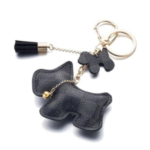 Iparam Fashion Cute Purse Dog Keychain - Black - Dogs Fashion Gingham Keychain Loan Usa