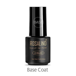 Rosalind Gel Nails Rainbow Gel - Base Coat - Christmas Gifts Holiday Look Your Best Nail Polish Loan Usa