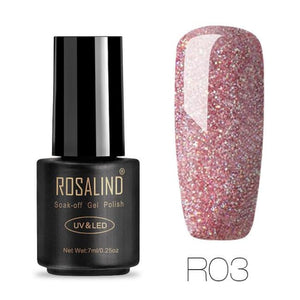 Rosalind Gel Nails Rainbow Gel - R03 - Christmas Gifts Holiday Look Your Best Nail Polish Loan Usa
