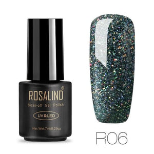 Rosalind Gel Nails Rainbow Gel - R06 - Christmas Gifts Holiday Look Your Best Nail Polish Loan Usa