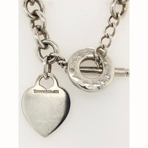 Tiffany and Co Heart Tag and Toggle 16 925 Necklace - Necklace Necklace Silver Tiffany and Co. Loan USA