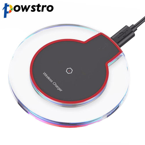 Ultra Slim Qi Wireless Fast Charger Charging Pad 5V 1A Wireless Charge For Samsung Galaxy S7 S6 Edge Plus Note 5 Lg G2 G3 Htc - Charger Easy
