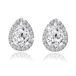 Wedding Jewelry Design Water Crystal Rhinestone Earrings Luxury Stud Earrings For Women Gift - Earrings Luxury Rhinestones Studs Wedding