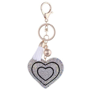 Zosh Heart Keychain Leather Tassel Gold Key Holder - Ft022 - Loan Usa