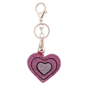 Zosh Heart Keychain Leather Tassel Gold Key Holder - Ft025 - Loan Usa