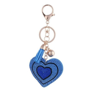 Zosh Heart Keychain Leather Tassel Gold Key Holder - Ft026 - Loan Usa