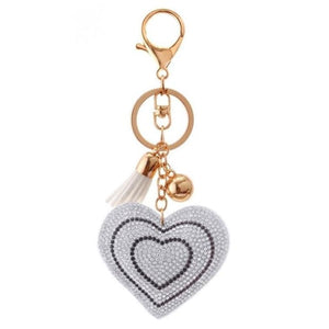 Zosh Heart Keychain Leather Tassel Gold Key Holder - Ft055 - Loan Usa