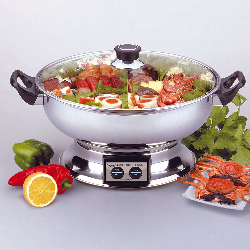TOYOMI 5.8L Steamboat with Divider HS172DV