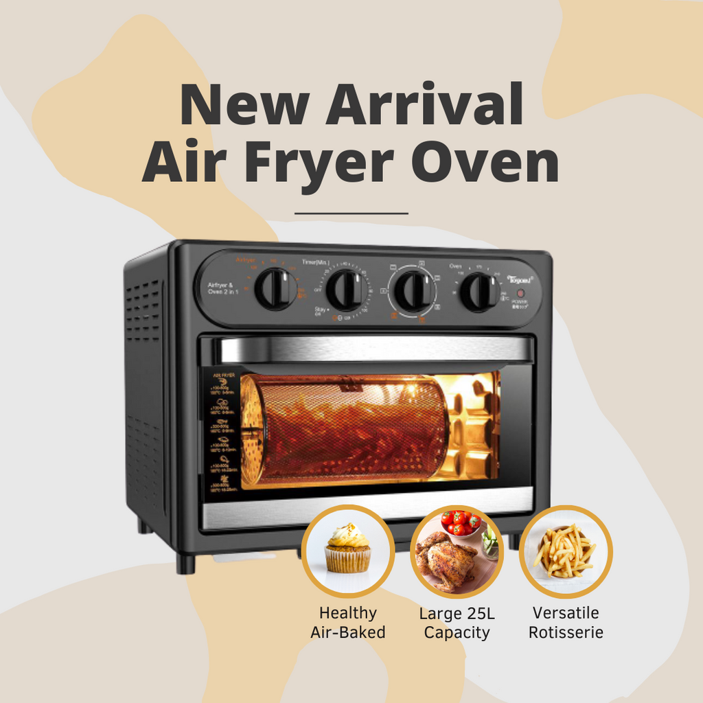 TOYOMI 25L Airfryer and Oven with Rotisserie AFO 2525RC