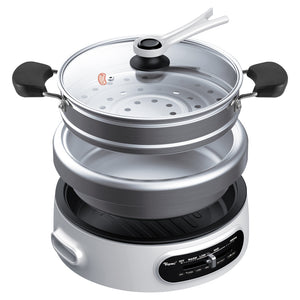 TOYOMI Stainless Steel Multi Cooker with Grill Pan 4.5L MC 6969SS