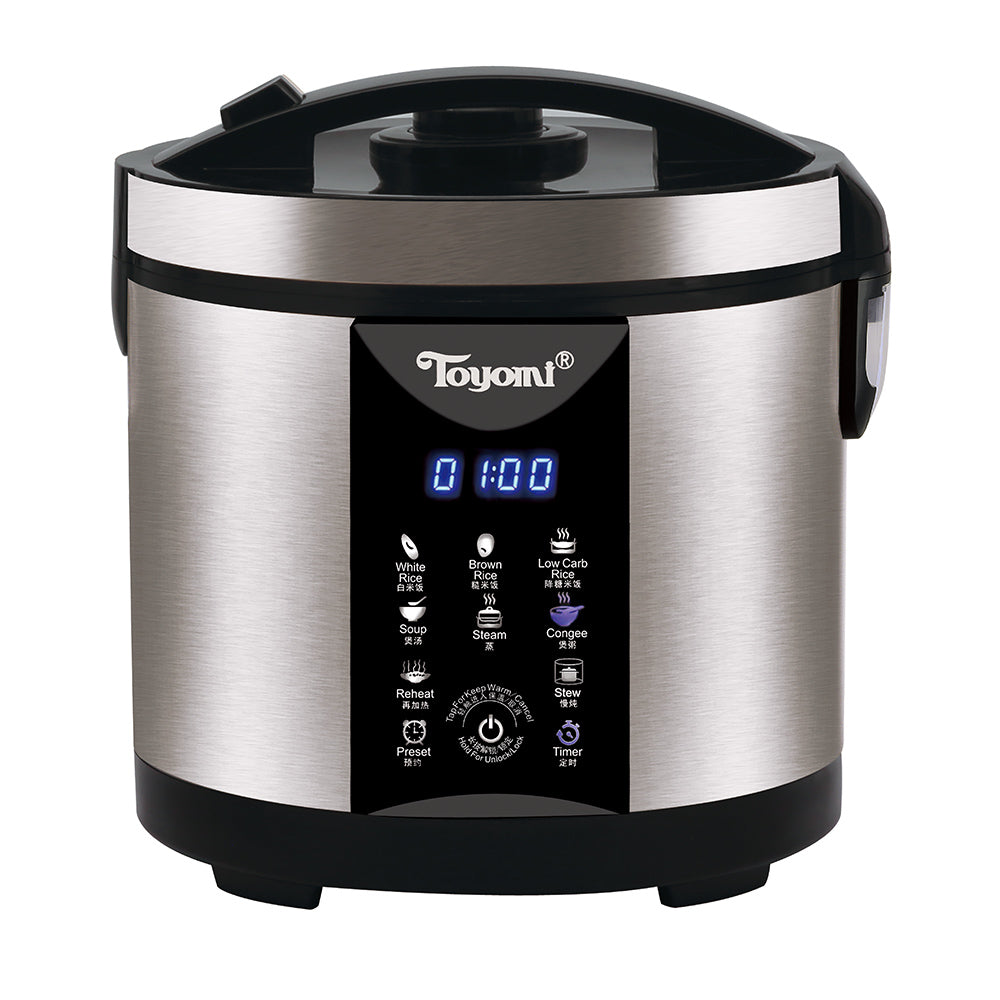 TOYOMI 1.8L Micro-com Low-Carb Stainless Steel Rice Cooker RC 4348