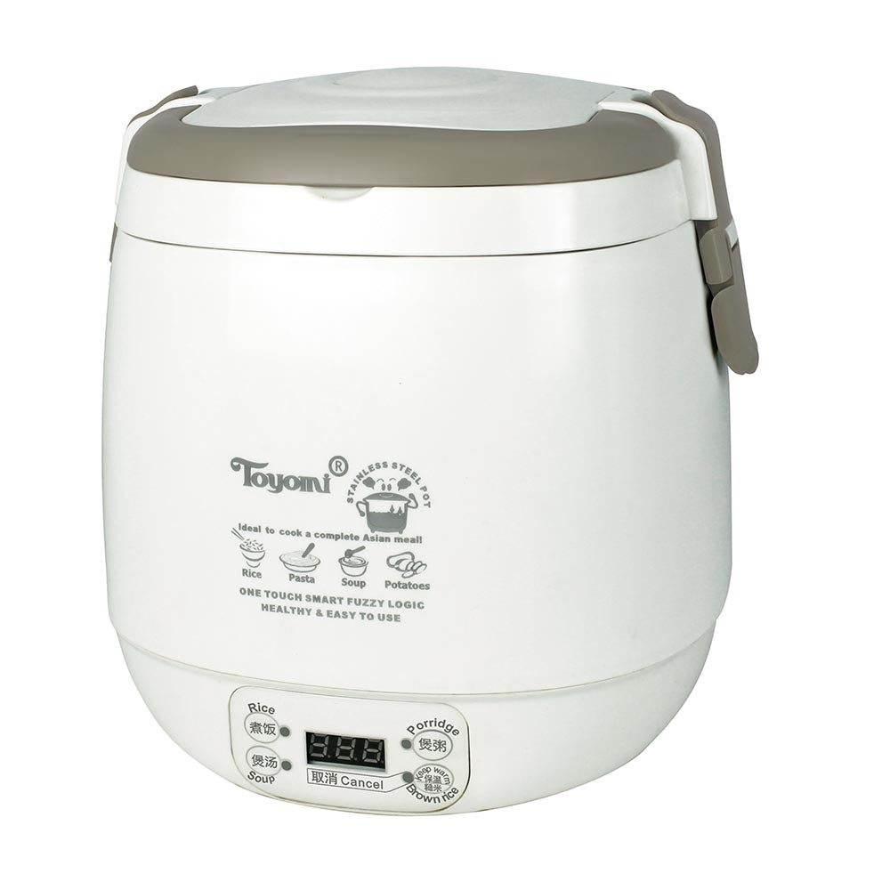 TOYOMI 0.6L Mini Rice Cooker with Duo Pot RC 818