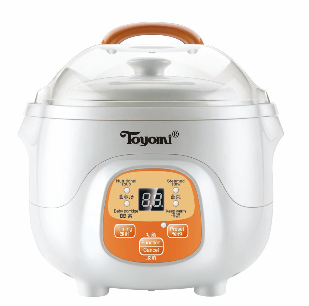 TOYOMI 0.7L Mini Double Boiler Stew Cooker SC 707
