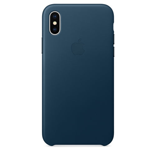 iPhone X Leather Case – Cosmos Blue