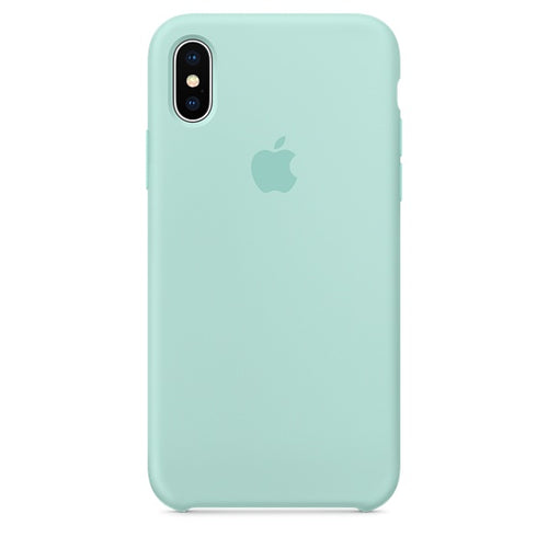 iPhone X Silicone Case – Marine Green