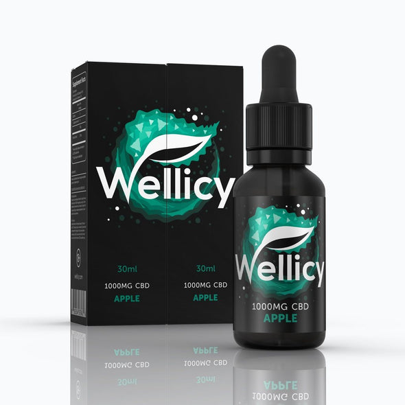 Wellicy 1000mg Apple CBD Oil