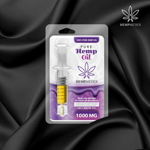 Hempmetics 1000mg Pure Hemp Oil Syringe