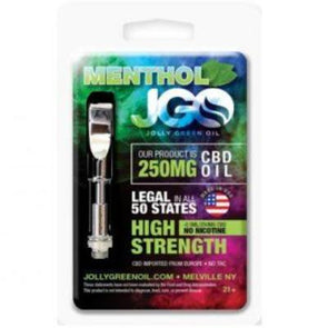 JGO 250mg Menthol CBD Oil Cartridge
